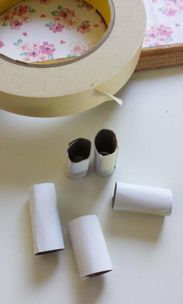 cardboard,cylinders,masking tape