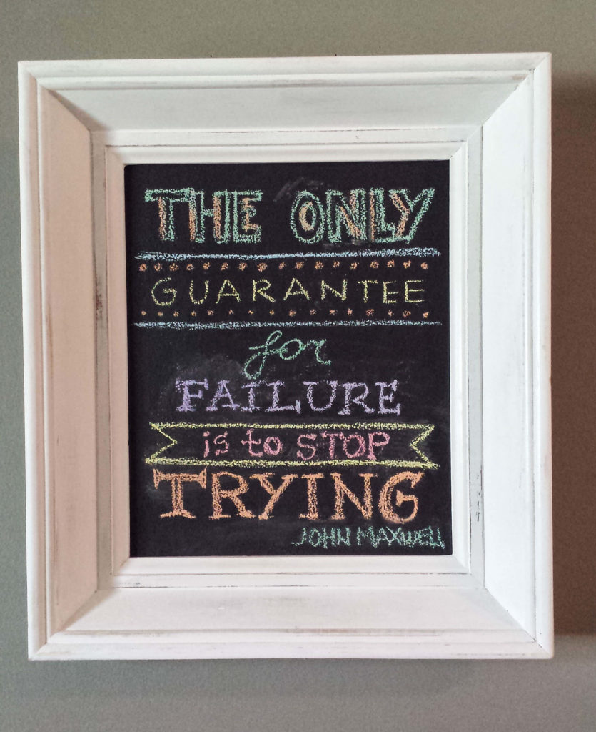 chalkboard, frame, quote, inspiring