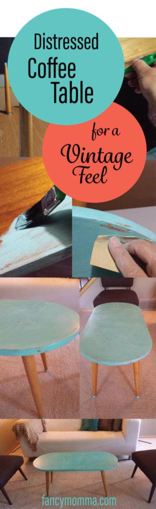 distressed,coffee table,vintage,diy,tutorial