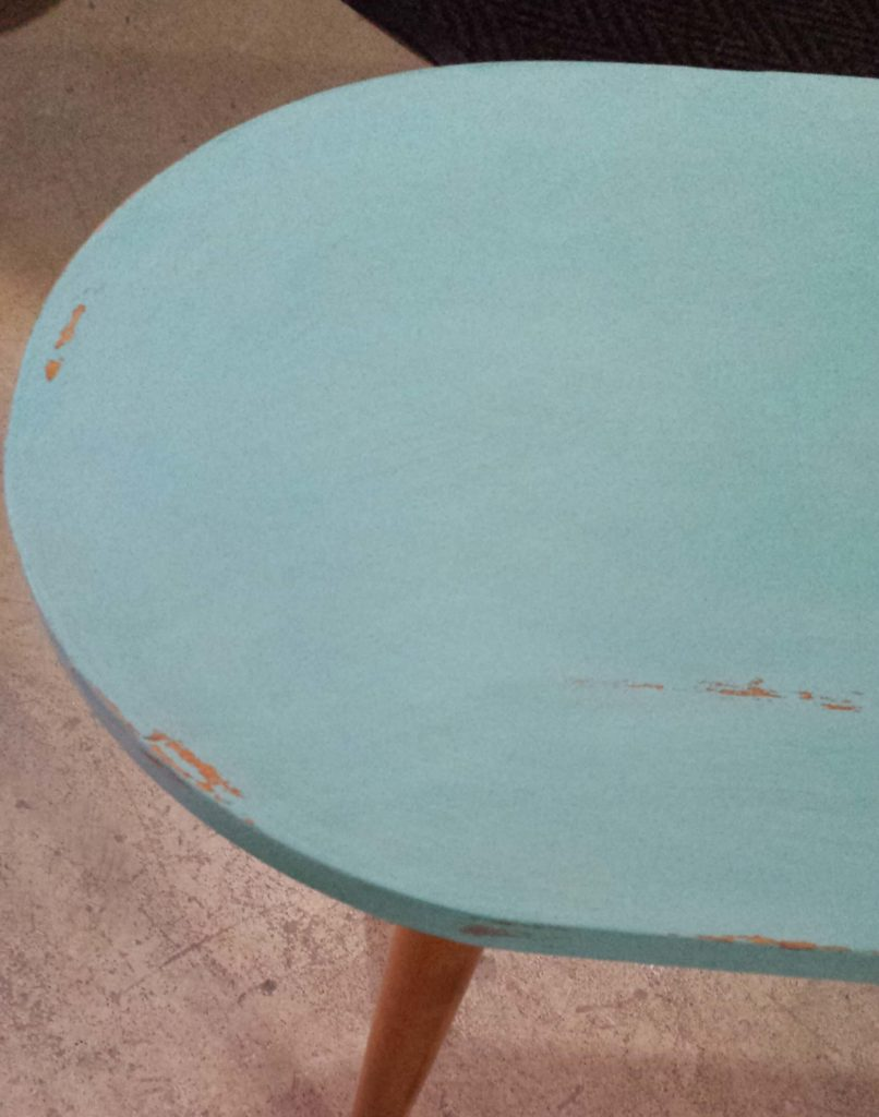 distressed, coffee table, sanded, chalk paint