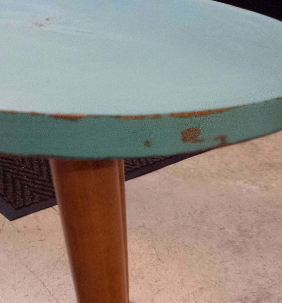 coffee table, distressed, sanded, sand paper, chalk paint