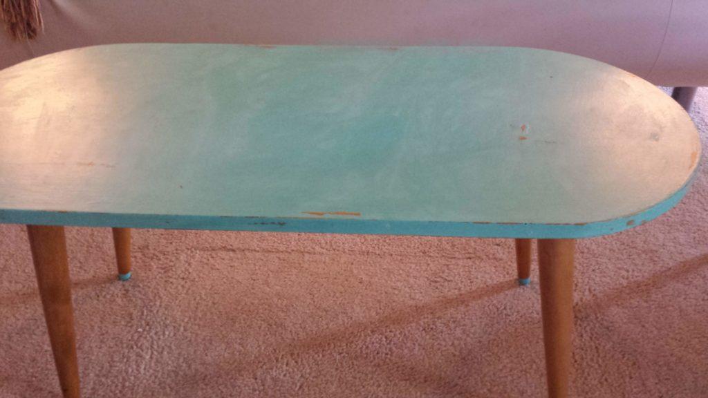 distressed, coffee table, waxed, buffed