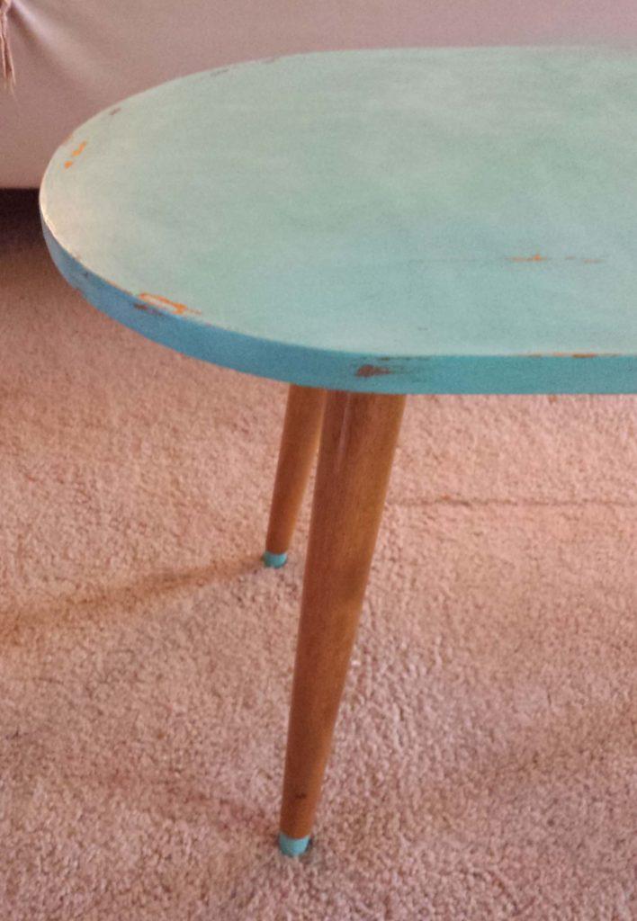 furniture wax, coffee table, buffed
