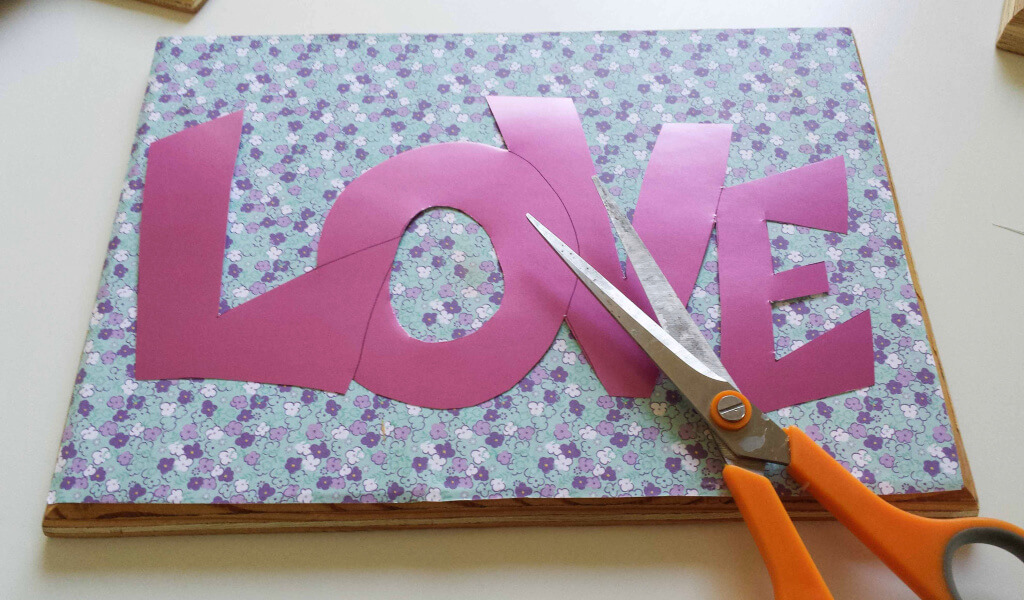 colored paper, cut-out,letters