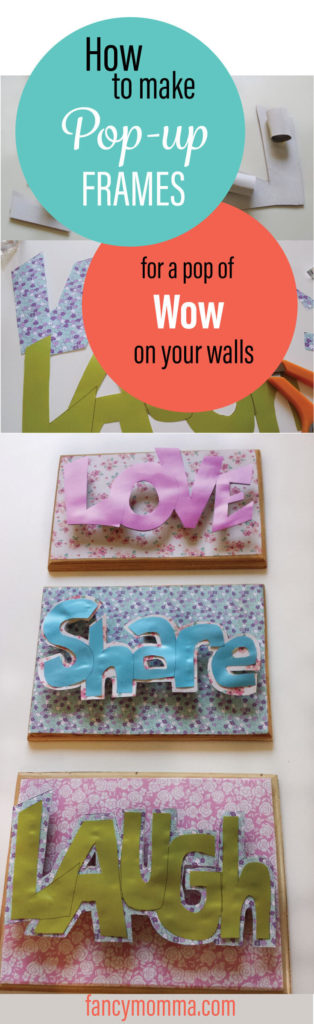 pop-up,frames,pop,wow,on the wall,diy,tutorial