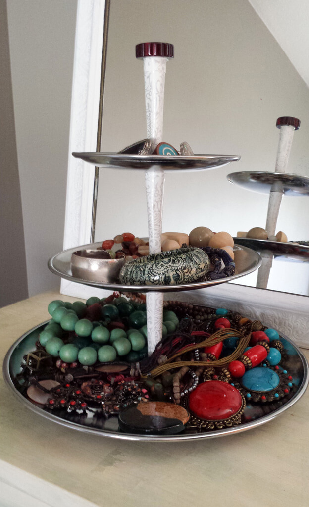 repurposed 3 tiered tray