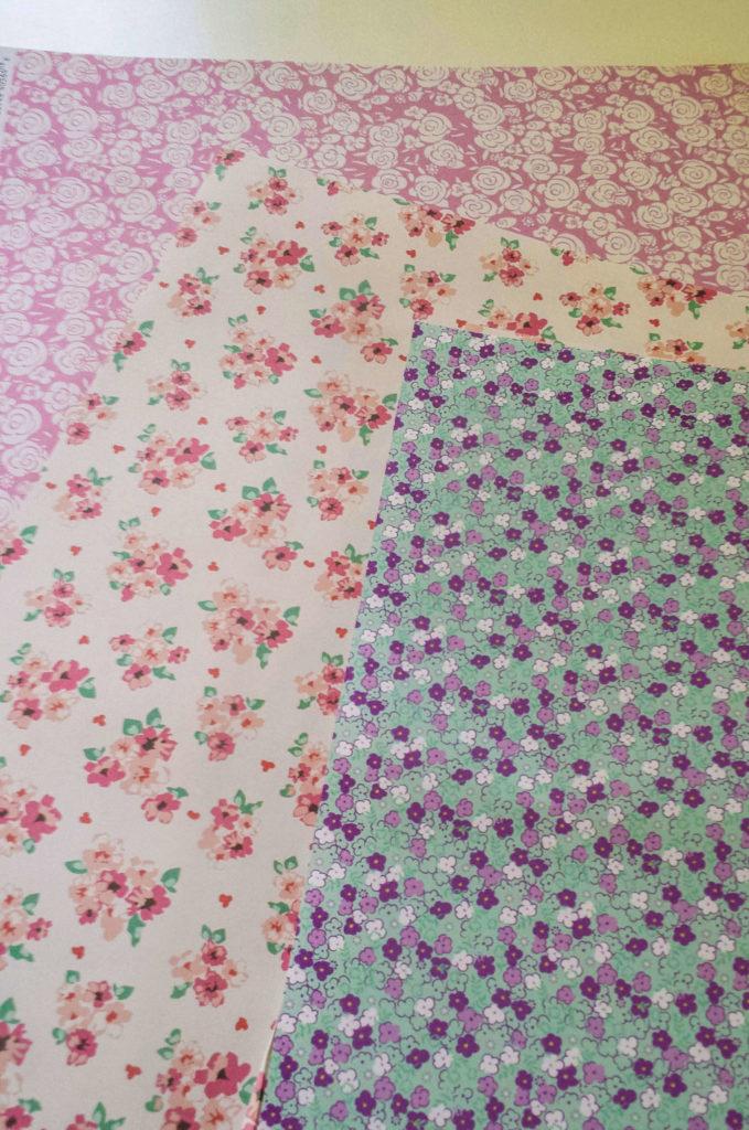 floral,print,scrapbook,paper