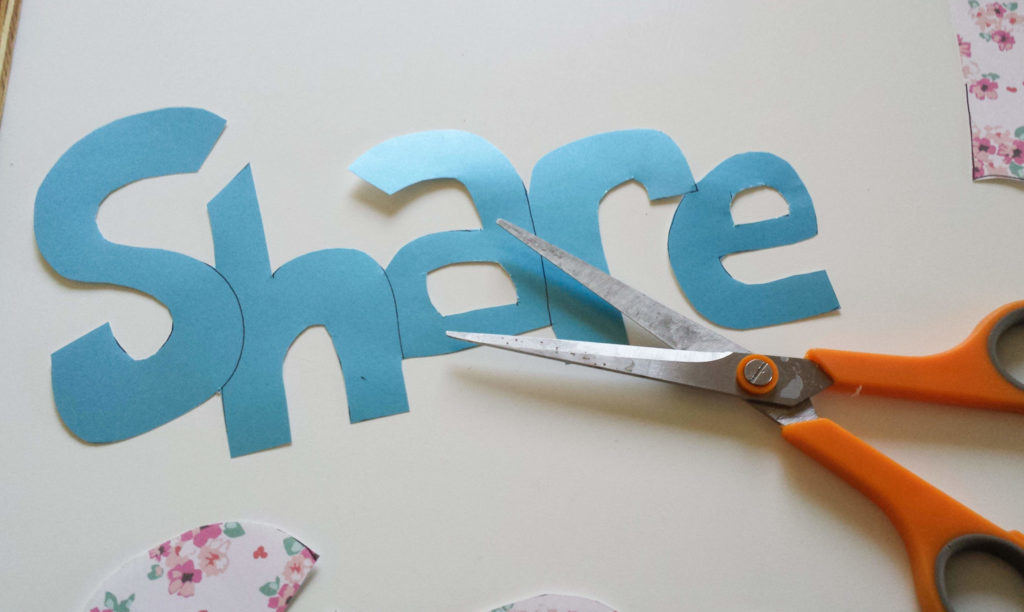 lettering,cut-out,colored,paper