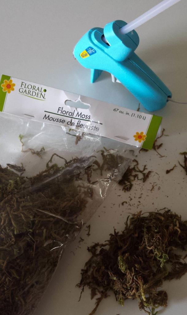 craft moss,clay pot,diy