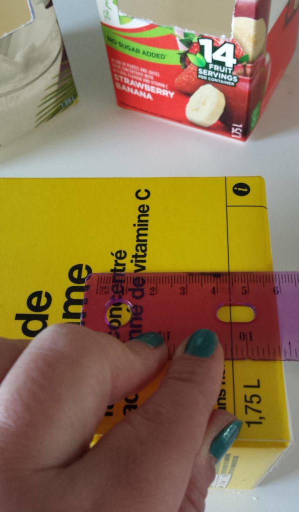 milk carton,juice carton,bird feeder, measure