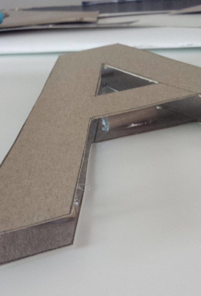 cardboard letter monogram diy