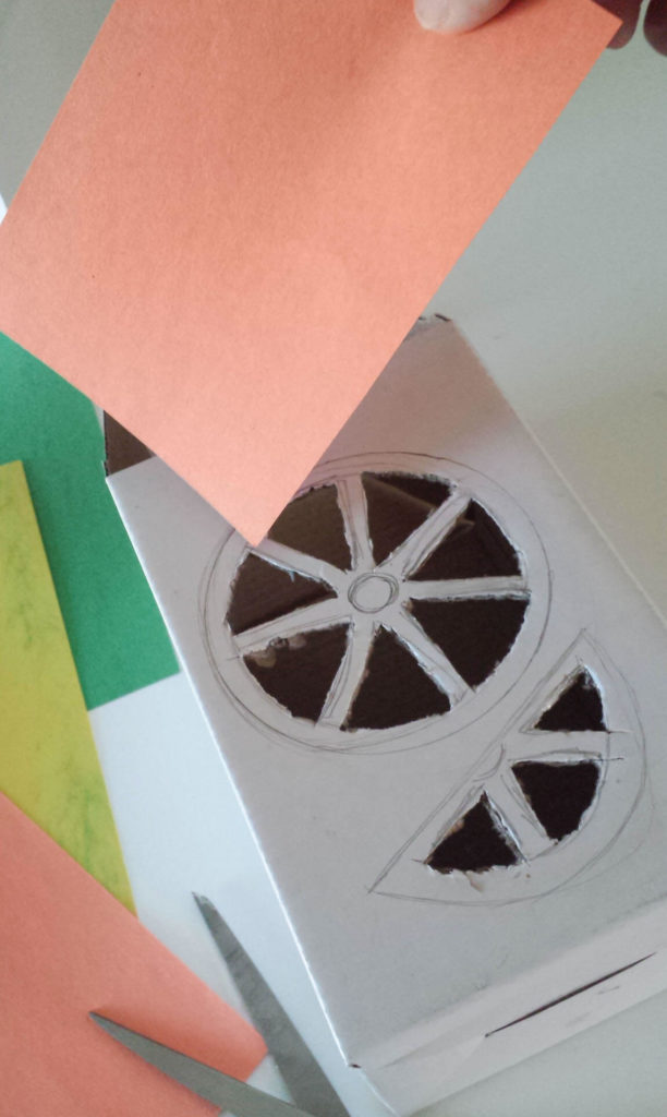 construction paper for box diy
