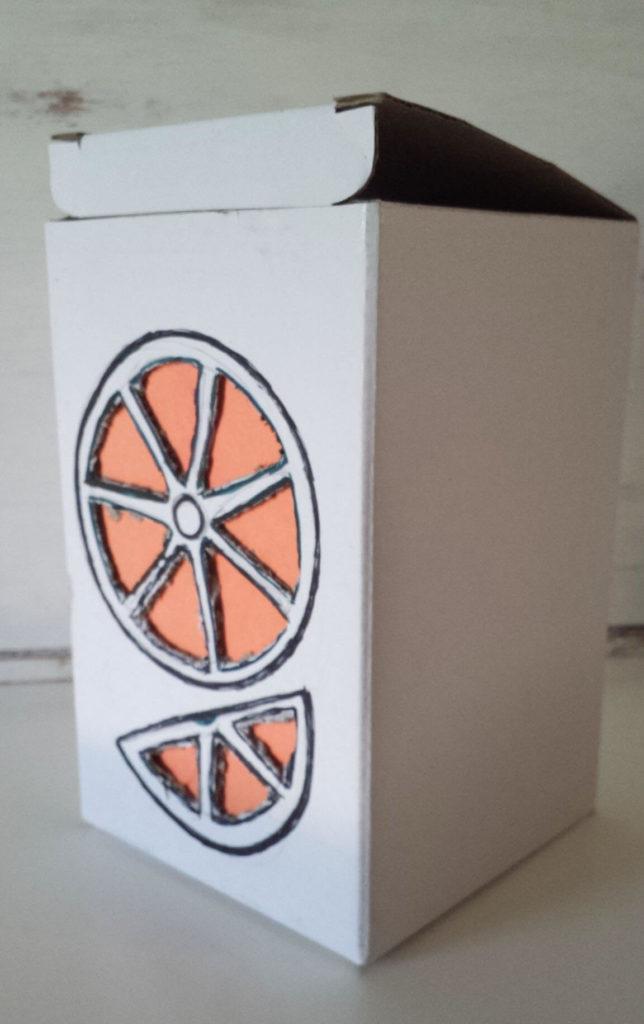 orange fruit box diy