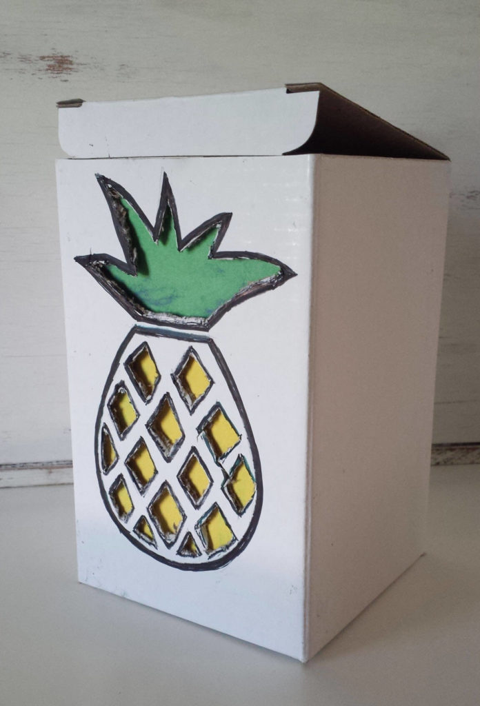 pineapple fruit box diy
