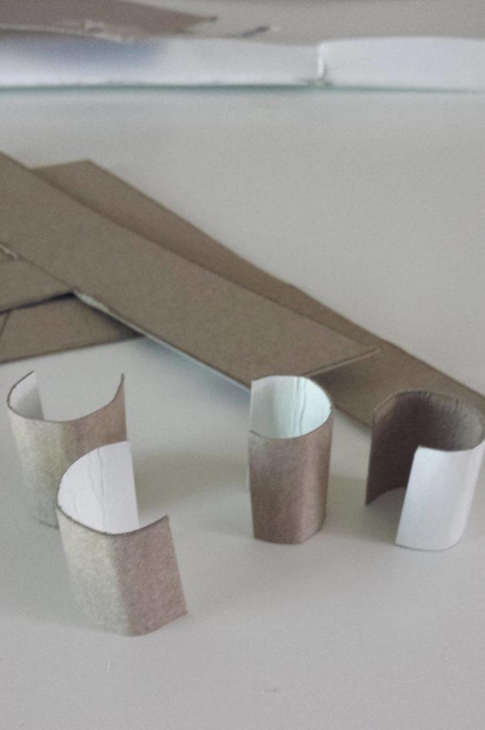 roll cardboard monogram diy