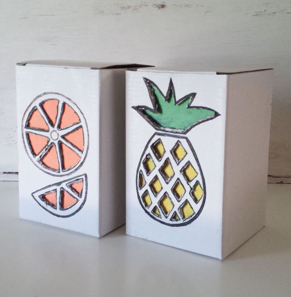 tropical fruit box diy