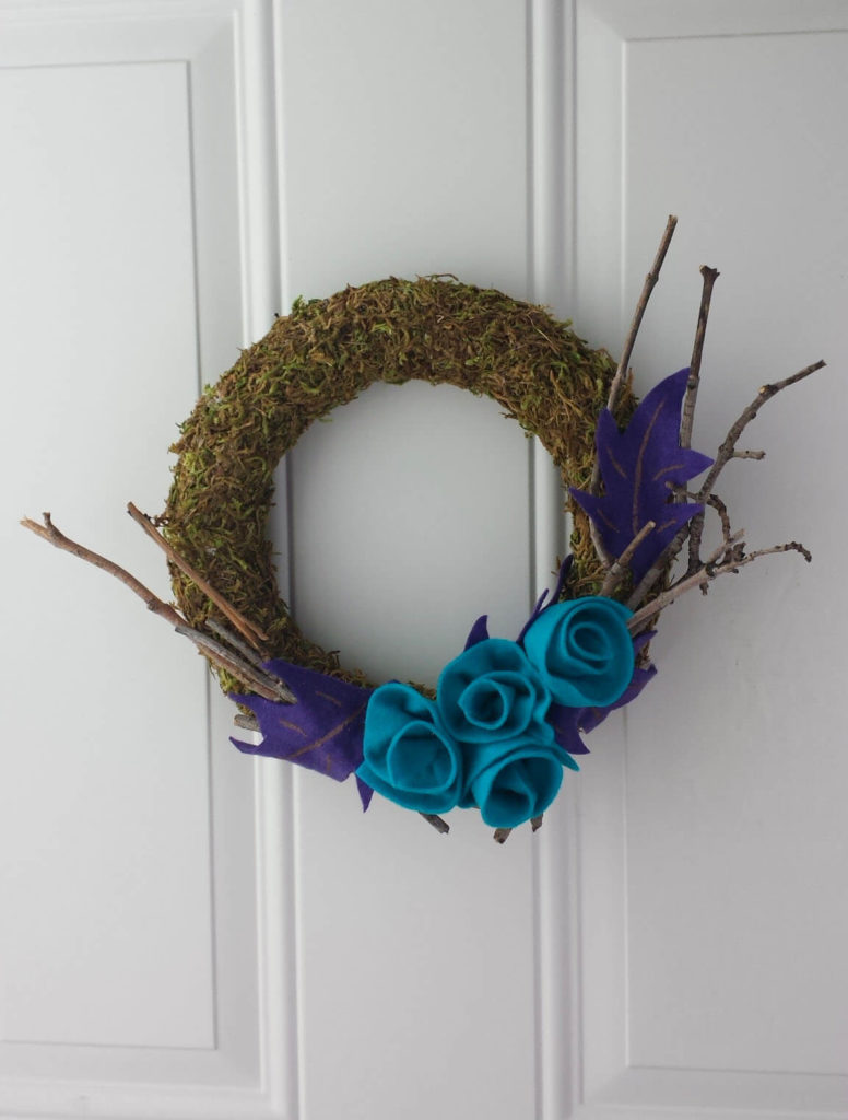 craft moss wreath diy