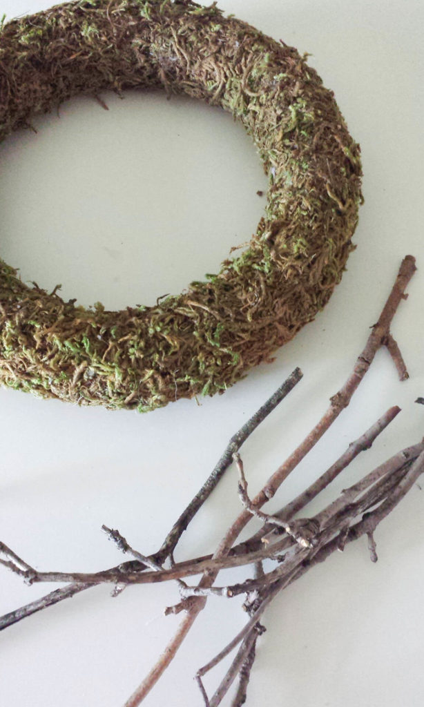 twigs for craft moss wreath diy