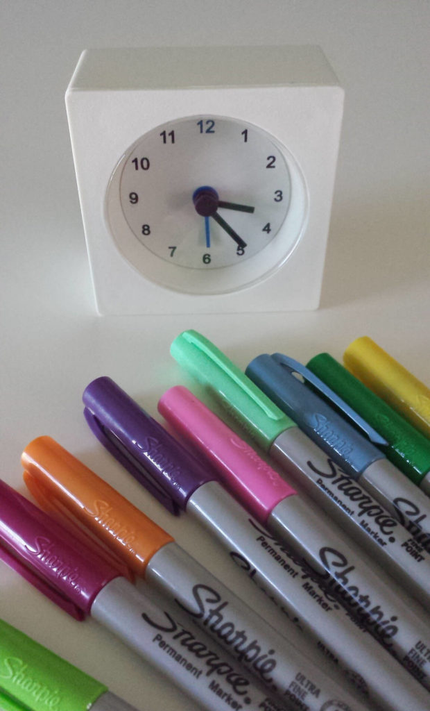 alarm clock ikea hack sharpied alarm clock