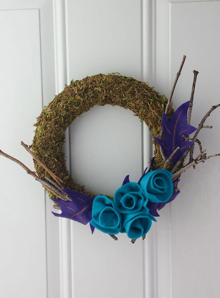 craft moss wreath diy