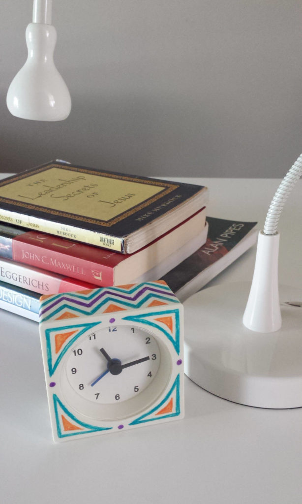 chevron ikea hack alarm clock