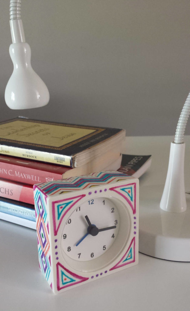 ikea hack sharpied alarm clock diy