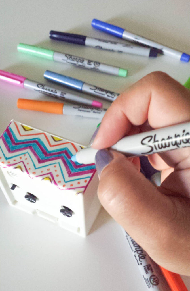 sharpie art on ikea alarm clock