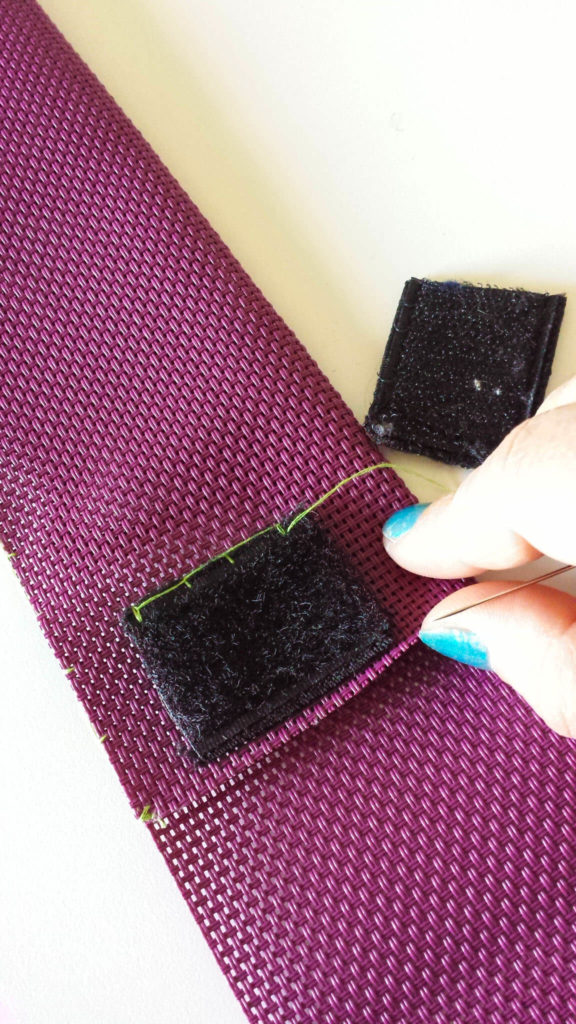 sew velcro to pouch