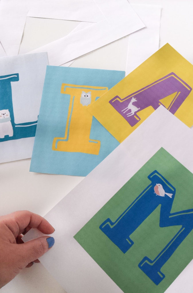 cut letters of nursery decor