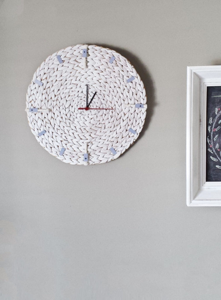 minimalist wall clock diy