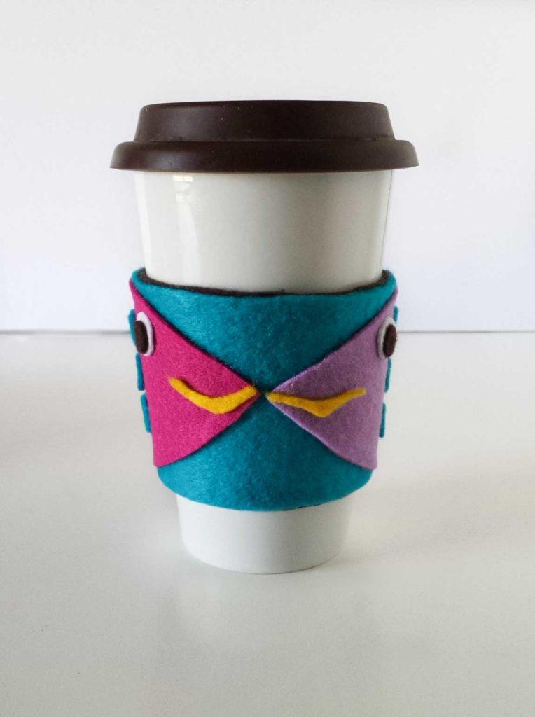 fish coffee sleeve diy