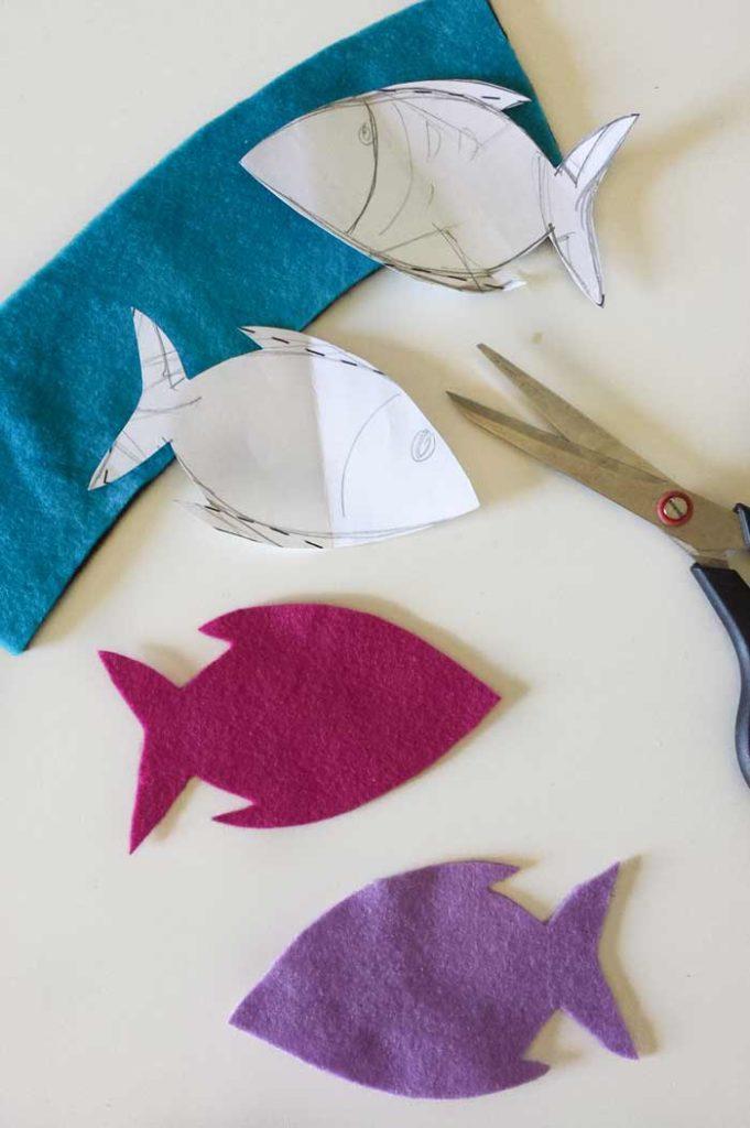 fish template coffee sleeve diy