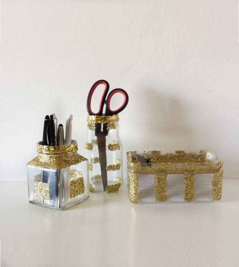 gold desk organizer diy