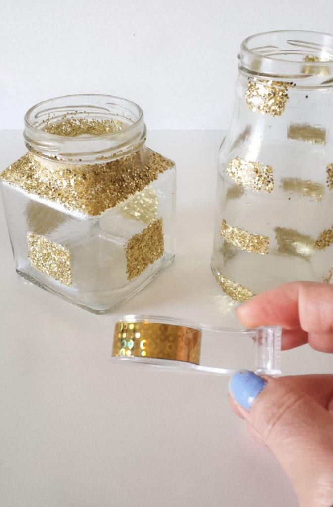 gold washi tape for desk organizer diy