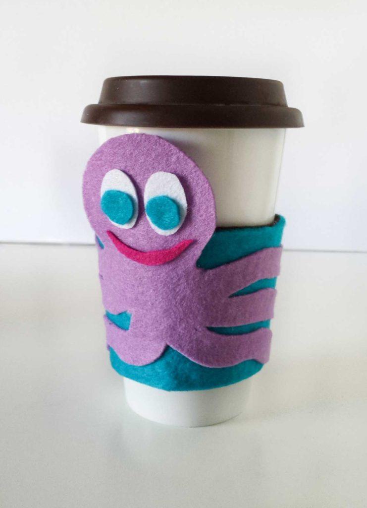 octopus coffee sleeve diy