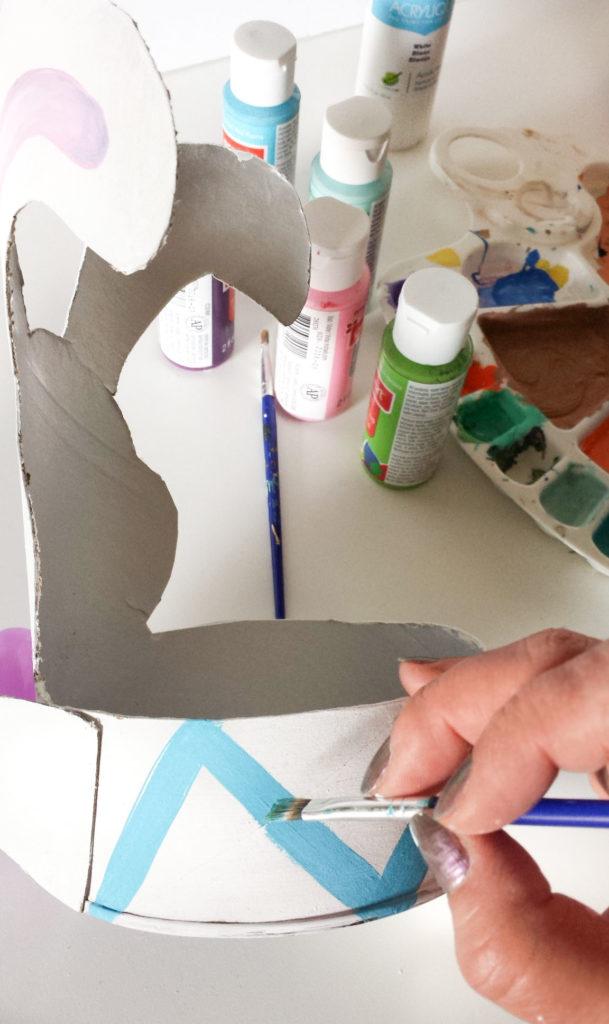 paint bottom of easter decor diy