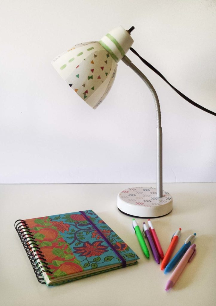 decoupage on lamp diy