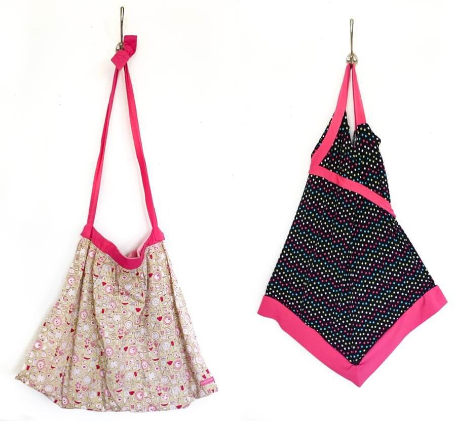 childrens dress repurposed to bag diy