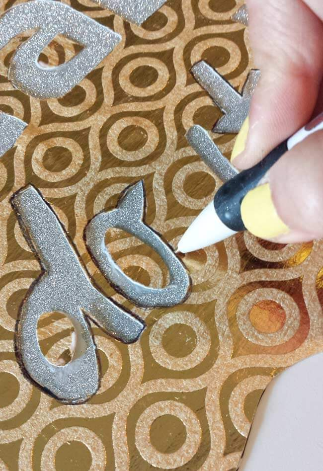 trace letters on desk decor diy