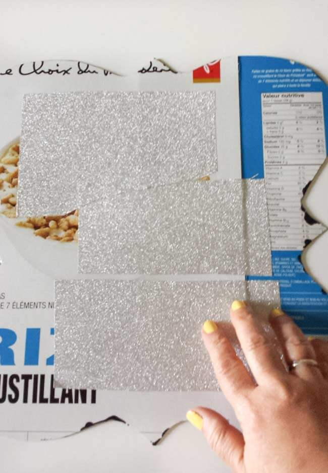 glittered paper fpr desk decor diy