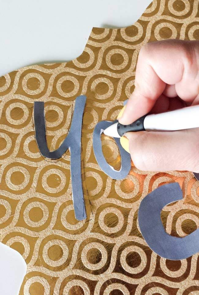 trace letters for desk decor diy
