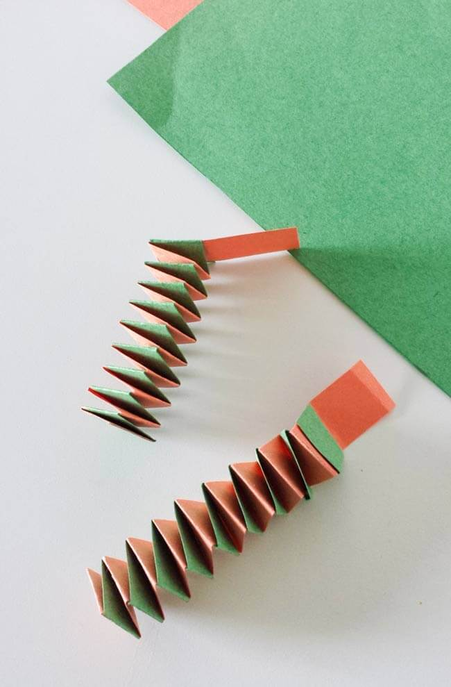 accordion paper strip for paper cup craft