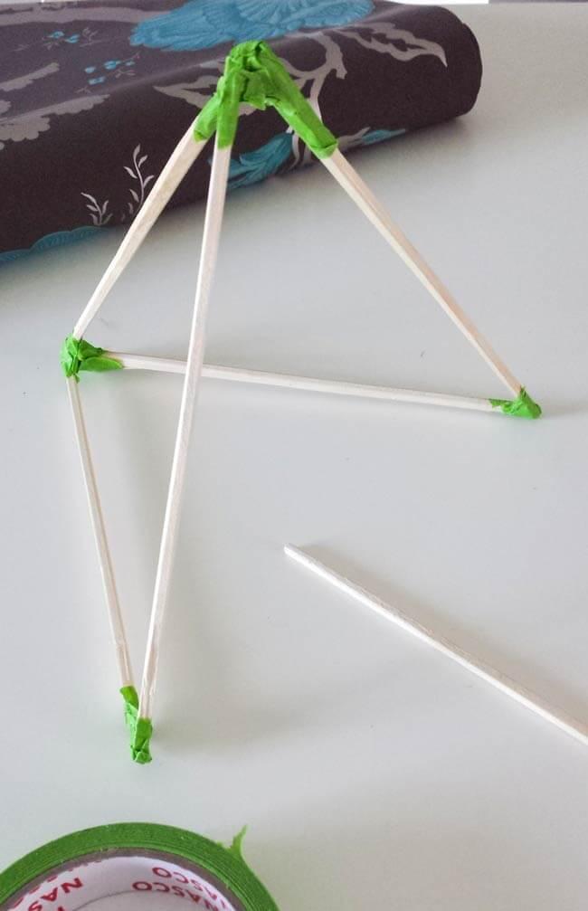 chopsticks for paper ornament diy