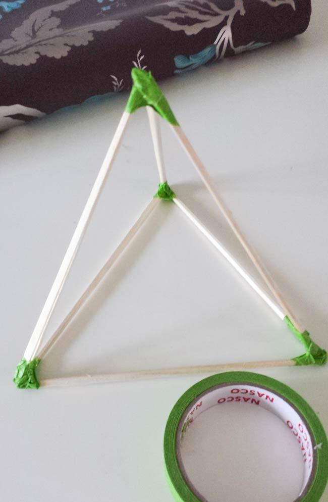 pyramid shape for paper ornament diy