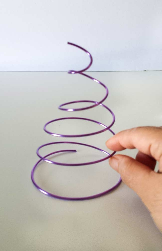curve wire for photo stand diy