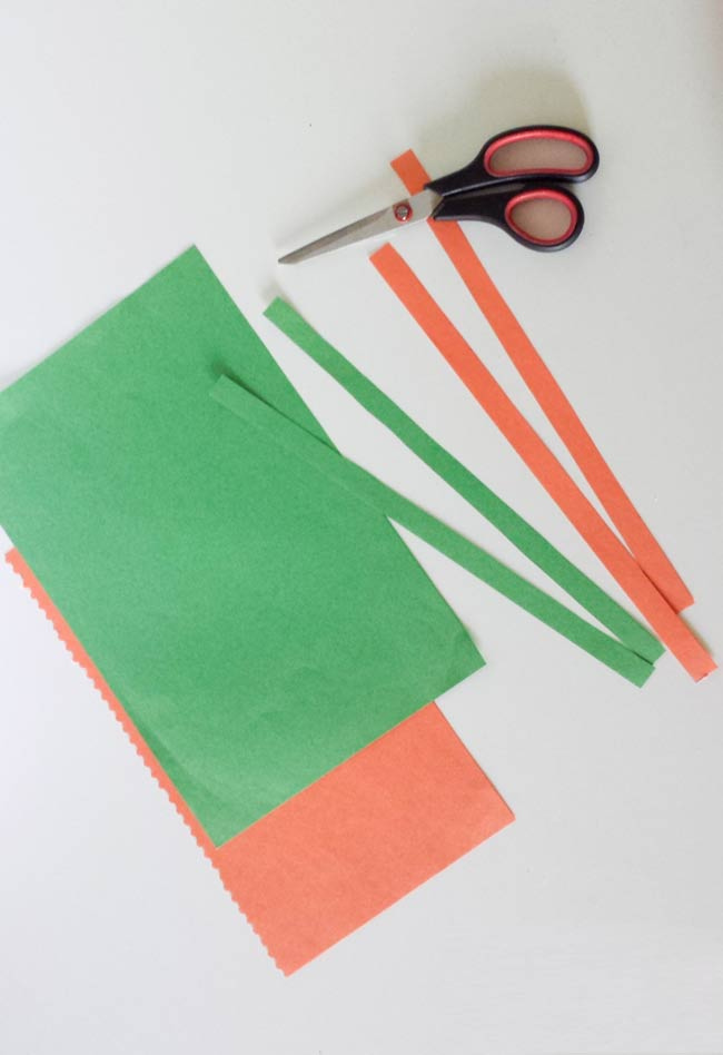 cut paper strips for paper cup craft