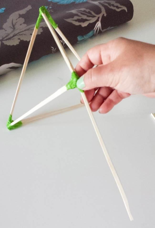 chopsticks for paper ornament