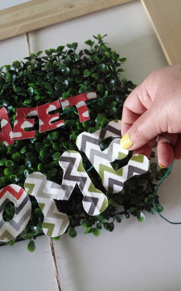 stringed letters for frame decor diy