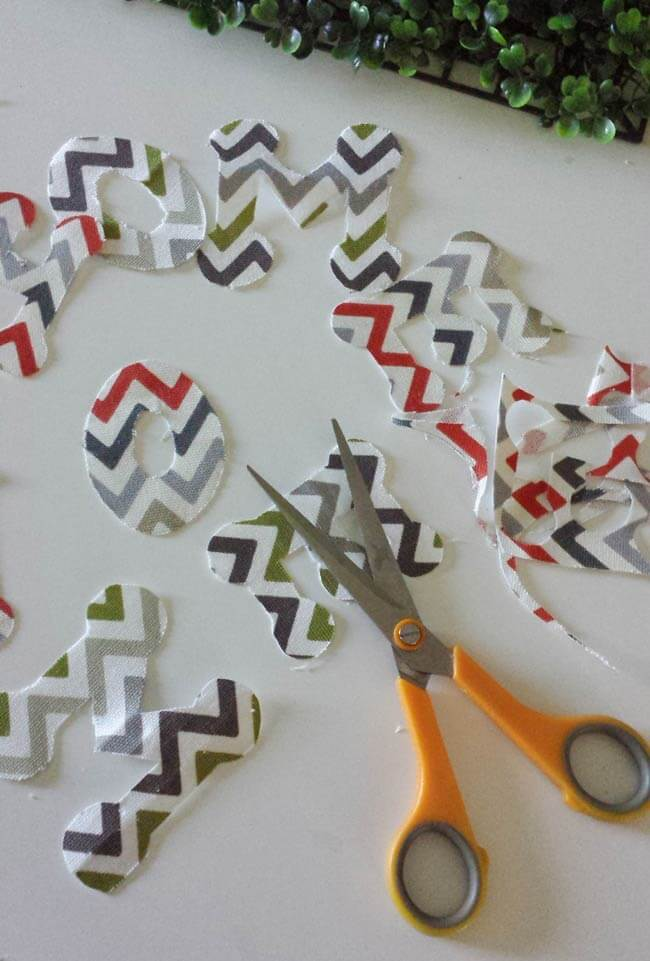 letter cut outs for frame decor diy