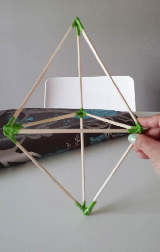pyramid frame for paper ornament diy